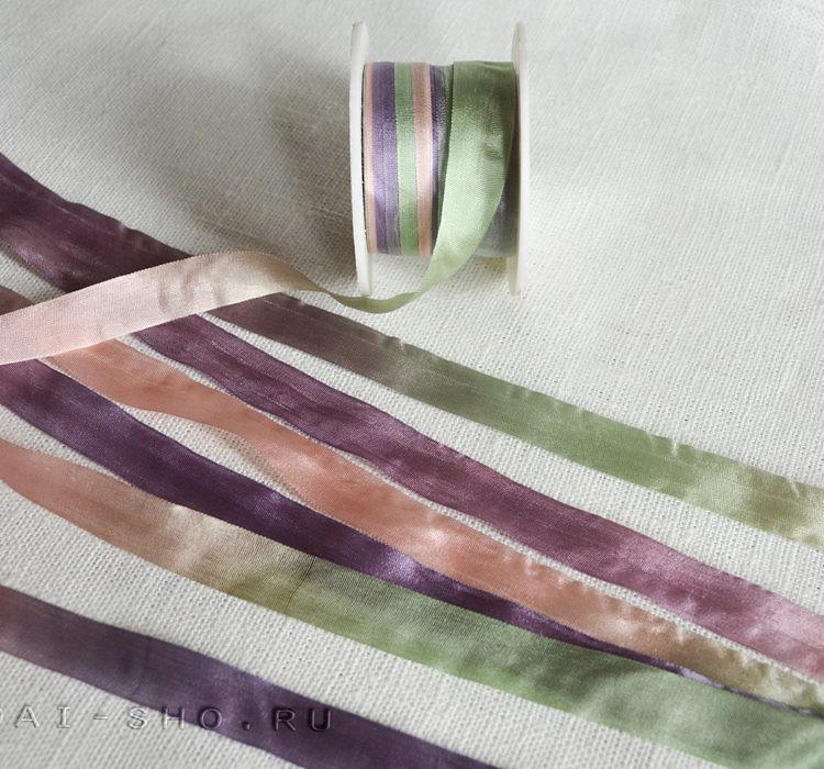 Шёлковая лента Меланж 13мм