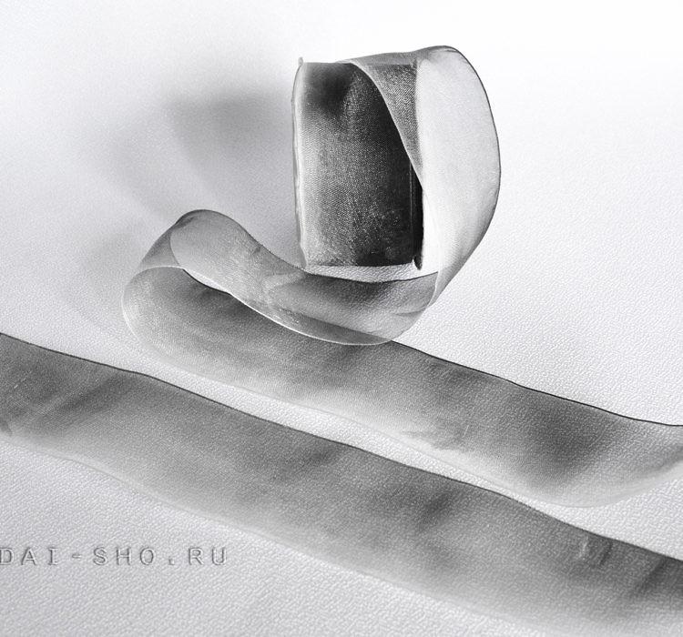 Ленты шифон, органза 40мм